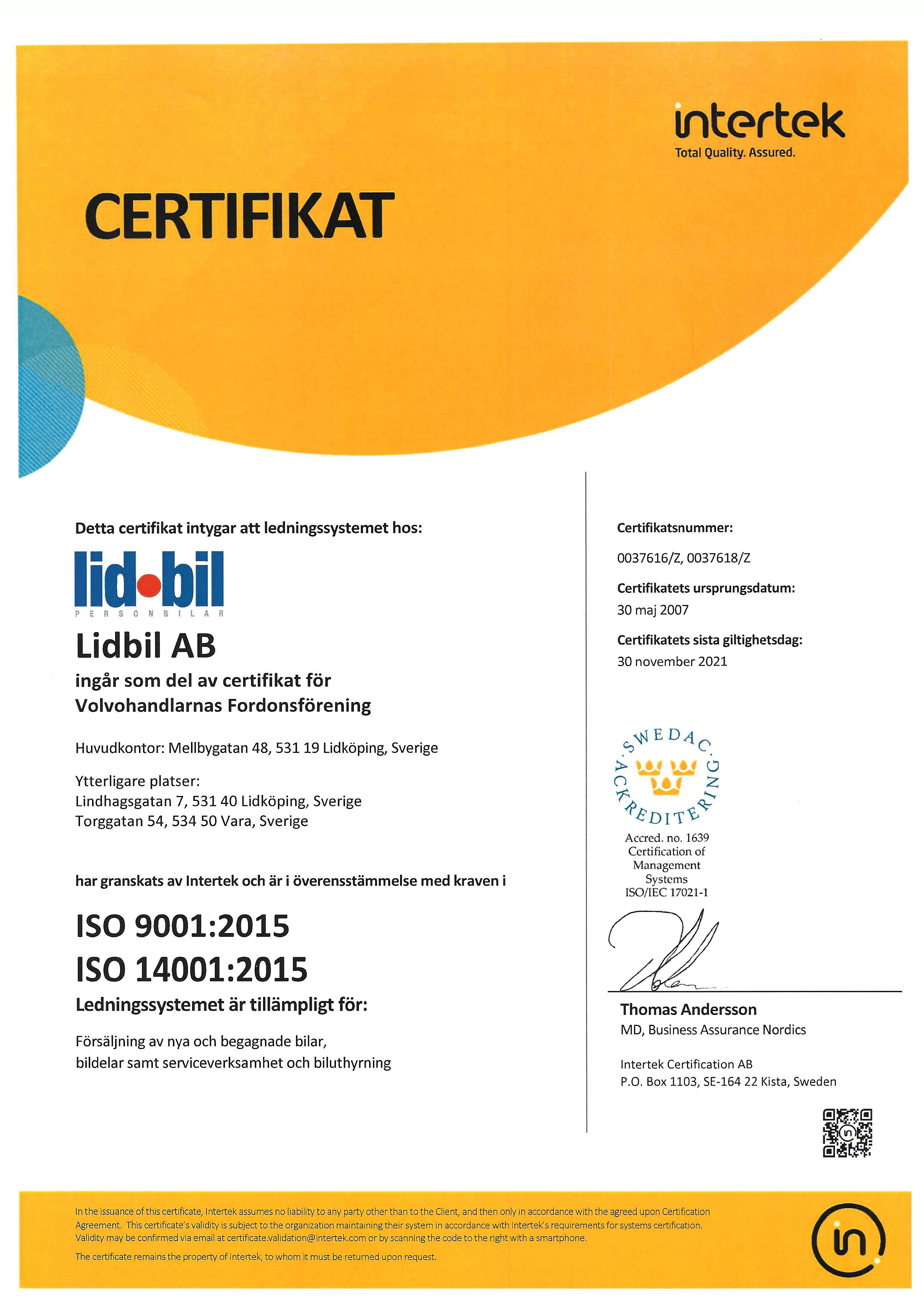 ISO Certifikat 2019